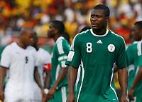 Photo: Steve Bond/Richard Lane Photography.<br /> Ghana v Nigeria. Africa Cup of Nations. 03/02/2008. Yakubu Ayegbeni (R) takes up his defensive duties