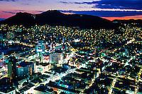 Views of Pusan at twilight from the Pusan Tower, Pusan (Busan), South Korea