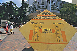 Water Conservation Sign, Downtown Harare