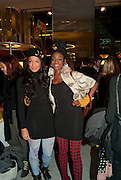 Sarah Jane Crawford; Shingai Shoniwa; THE NOISETTES, The Nineties are Vintage. Concept Store, Rellik and Workit. The Wonder Room. Selfridges. Oxford St. London. 7 January 2010.
