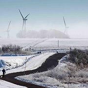 People enjoying a walk through Whitelee Windfarm in North Ayrshire as low temperatures, ice and snow affecting parts of the UK. 31st Jan 2019 EPA/EFE ROBERT PERRY
