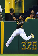 PITTSBURGH, PA - JUNE 22:  Gregory Polanco #25 of the Pittsburgh Pirates can't make a catch on a ball hit by Joe Panik #12 of the San Francisco Giants (not pictured) during the sixth inning on June 22, 2016 at PNC Park in Pittsburgh, Pennsylvania.  (Photo by Joe Sargent/Getty Images) *** Local Caption ***