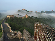 CHENGDE, CHINA - AUGUST 20: (CHINA OUT) <br /> <br /> Beautiful images of the Great Wall draped in clouds<br /> <br /> A general view shows part of the Jinshanling section of the Great Wall with cloud around on August 20, 2015 in Chengde, Hebei Province of China.<br /> ©Exclusivepix Media