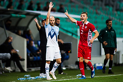 Sasa Zivec of Slovenia during the UEFA Nations League C Group 3 match between Slovenia and Moldova at Stadion Stozice, on September 6th, 2020. Photo by Grega Valancic / Sportida