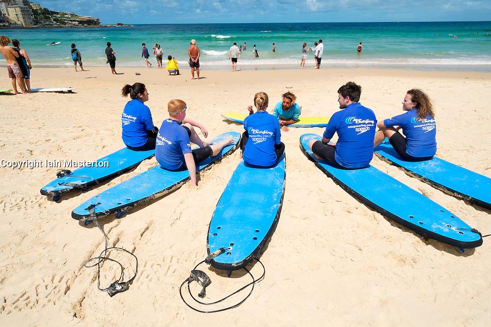 Summer view of Bondi Beach in Sydney New South Wales in Australia