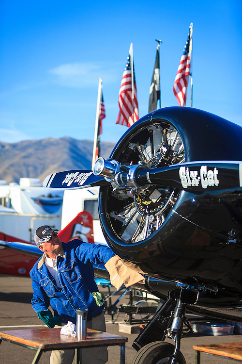 """The """"Six-Cat"""" being prepped prior to a race at Reno."""