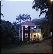 """The """"Blue House"""" at The Hermitage Plantation Inn, Nevis"""