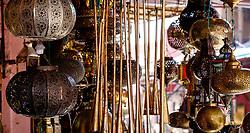Fancy goods for sale  in the medina, Marrakech, Morocco, North Africa<br /> <br /> (c) Andrew Wilson | Edinburgh Elite media