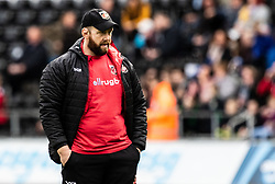 Head Coach Ceri Jones of Dragons during the pre match warm up<br /> <br /> Photographer Simon King/Replay Images<br /> <br /> Guinness PRO14 Round 18 - Ospreys v Dragons - Saturday 23rd March 2019 - Liberty Stadium - Swansea<br /> <br /> World Copyright © Replay Images . All rights reserved. info@replayimages.co.uk - http://replayimages.co.uk