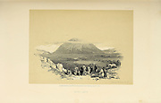 Mount Tabor, Galilee  from The Holy Land : Syria, Idumea, Arabia, Egypt & Nubia by Roberts, David, (1796-1864) Engraved by Louis Haghe. Volume 1. Book Published in 1855 by D. Appleton & Co., 346 & 348 Broadway in New York.