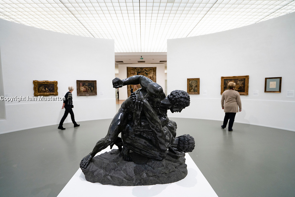 Sculpture The Wrestlers at an exhibition of Peter Paul Rubens at the Museum Boijmans van Beuningen in Rotterdam The Netherlands