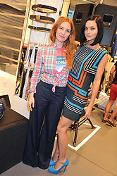 Left to right, JOSEPHINE DE LA BAUME and LEIGH LEZARK at a party to celebratethe opening of the Lacoste Flagship Store at 44 Brompton Road, Knightsbridge, London on 20th June 2012.