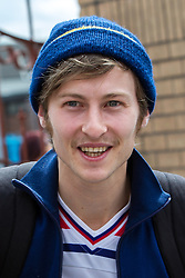 © Licensed to London News Pictures . 02/08/2015 . Droylsden Football Club , Manchester , UK . LUKE TITTENSOR arrives . Celebrity football match in aid of Once Upon a Smile and Debra , featuring teams of soap stars . Photo credit : Joel Goodman/LNP