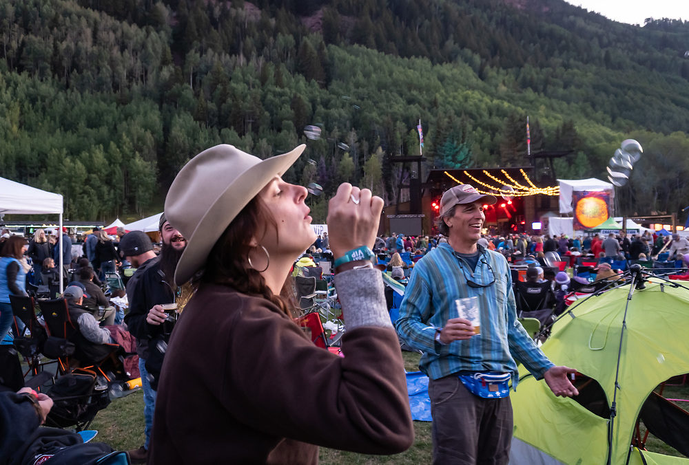 The scene Friday at Telluride Blues & Brews.