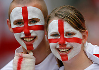 Photo: Glyn Thomas.<br />Sweden v England. FIFA World Cup 2006. 20/06/2006.<br /> England fans ready for the game.