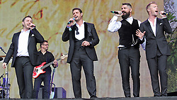 © Licensed to London News Pictures. 13/07/2014, UK. Boyzone, play British Summer Time at Hyde Park, London UK, 13 July 2014. Photo credit : Brett D. Cove/Piqtured/LNP