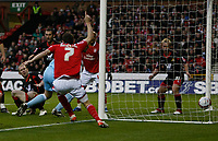 Photo: Steve Bond/Richard Lane Photography. Nottingham Forest v Doncaster Rovers. Coca Cola Championship. 28/11/2009. Gareth Roberts (L) deflects the ball into his own net