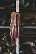 Measuring tape at a shoe workshop in Stepanakert, the capital of Nagorno-Karabakh. <br /><br />(September 22, 2016)