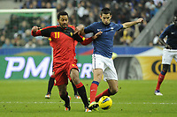 FOOTBALL - INTERNATIONAL FRIENDLY GAMES 2011/2012 - FRANCE v BELGIUM - 15/11/2011 - PHOTO JEAN MARIE HERVIO / DPPI - MOUSSA DEMBELE (BEL) / MAXIME GONALONS (FRA)