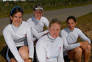 Reading, GREAT BRITAIN, Back left Katherine GRAINGER, Debbie FLOOD,.front Left FRANCES HOUGHTON and Annie VERNON, GB Rowing 2007 FISA World Cup Team Announcement, at the GB Training centre, Caversham, England on Thur. 26.04.2007  [Photo, Peter Spurrier/Intersport-images]..... , Rowing course: GB Rowing Training Complex, Redgrave Pinsent Lake, Caversham, Reading