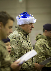24/12/2013. Troops at Camp Bastion in Afghanistan start the festive celebrations this evening with a carol concert.  Photo credit: Alison Baskerville/LNP