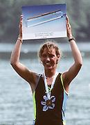Lucerne, SWITZERLAND. LW1X. 1992 FISA World Cup Regatta, Lucerne. Lake Rotsee.  [Mandatory Credit: Peter Spurrier: Intersport Images] 1992 Lucerne International Regatta and World Cup, Switzerland