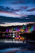 Dusk over the lake - The 2016 Latitude Festival, Henham Park, Suffolk.