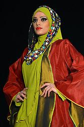 © Licensed to London News Pictures. 23/11/2013, UK. Sri Munawwarah, Saverah Islamic Fashion Weekend, Global Peace & Unity Event, Excel, London UK, 23 November 2013. Photo credit : See Li/Piqtured/LNP