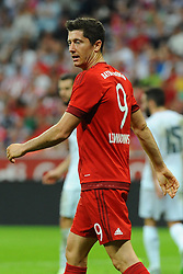 05.08.2015, Allianz Arena, Muenchen, GER, AUDI CUP, FC Bayern Muenchen vs Real Madrid, im Bild Robert Lewandowski (FC Bayern Muenchen) // during the 2015 Audi Cup Match between FC Bayern Munich and Real Madrid at the Allianz Arena in Muenchen, Germany on 2015/08/05. EXPA Pictures © 2015, PhotoCredit: EXPA/ Eibner-Pressefoto/ Stuetzle<br /> <br /> *****ATTENTION - OUT of GER*****