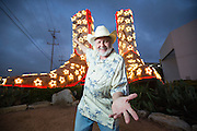 """Artist Bob """"Daddy-O"""" Wade created a pair of ostrich boots that were recognized by the Guinness World Records as the world's tallest cowboy boot sculpture in 2015. The boots - 35 feet tall, 33 feet long and 9 feet wide - greet drivers from the side of Loop 410 in San Antonio, Texas."""