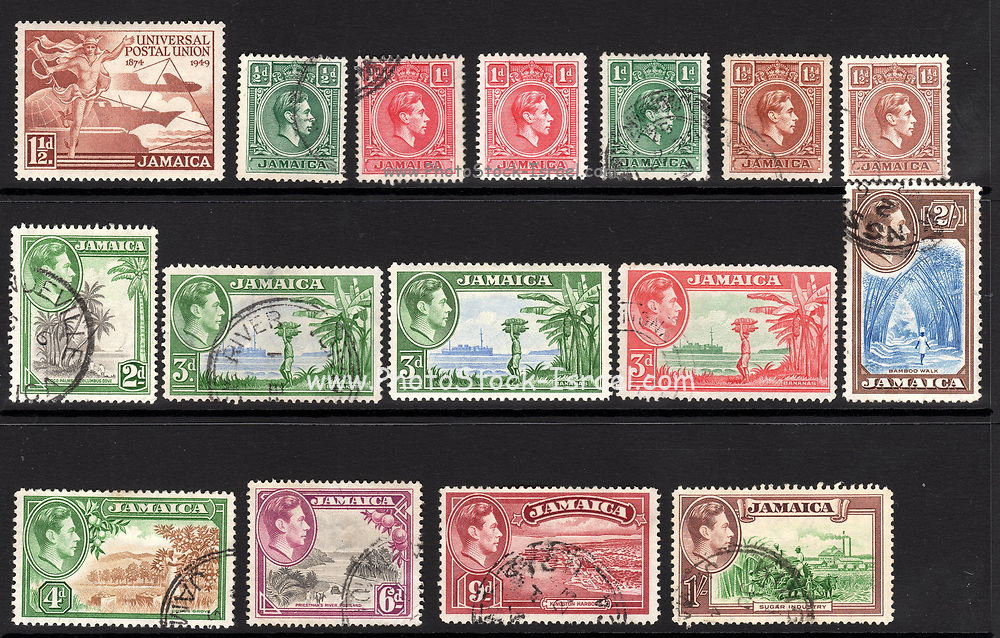 Jamaica postage stamps. 1938 to 1949