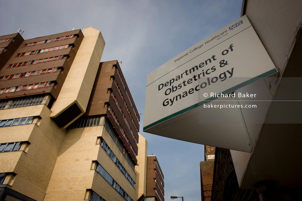 St Mary's hospital NHS trust building complex in Paddington, London.