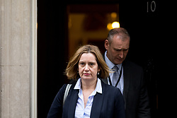 © Licensed to London News Pictures. 27/03/2018. London, UK. Home Secretary Amber Rudd leaves Downing Street after attending a Cabinet meeting this morning. Photo credit : Tom Nicholson/LNP