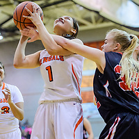 Gallup Bengal Ashley Antone (1) is fouled by Grants Pirate Cubie Jones (32) Thursday at Gallup High School.