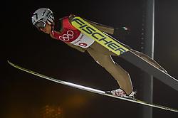 February 10, 2018 - Pyeonchang, Gangwon, South Korea - Davide Bresadolao fItaly at mens normal hill final at 2018 Pyeongchang winter olympics at Alpensia Ski Jumping Centre, Pyeongchang, South Korea on February 10, 2018. Ulrik Pedersen/Nurphoto  (Credit Image: © Ulrik Pedersen/NurPhoto via ZUMA Press)