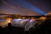 Lazer Light Show Shoshone Falls