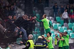 Players of NK Olimpija Ljubljana celebrates during football match between NK Olimpija Ljubljana and NK Maribor in Semifinal of Slovenian Football Cup 2016/17, on April 5, 2017 in SRC Stozice, Ljubljana, Slovenia.  Photo by Ziga Zupan / Sportida