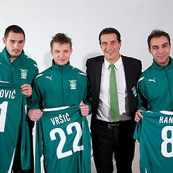 20110202: SLO, Football - Press conference of NK Olimpija