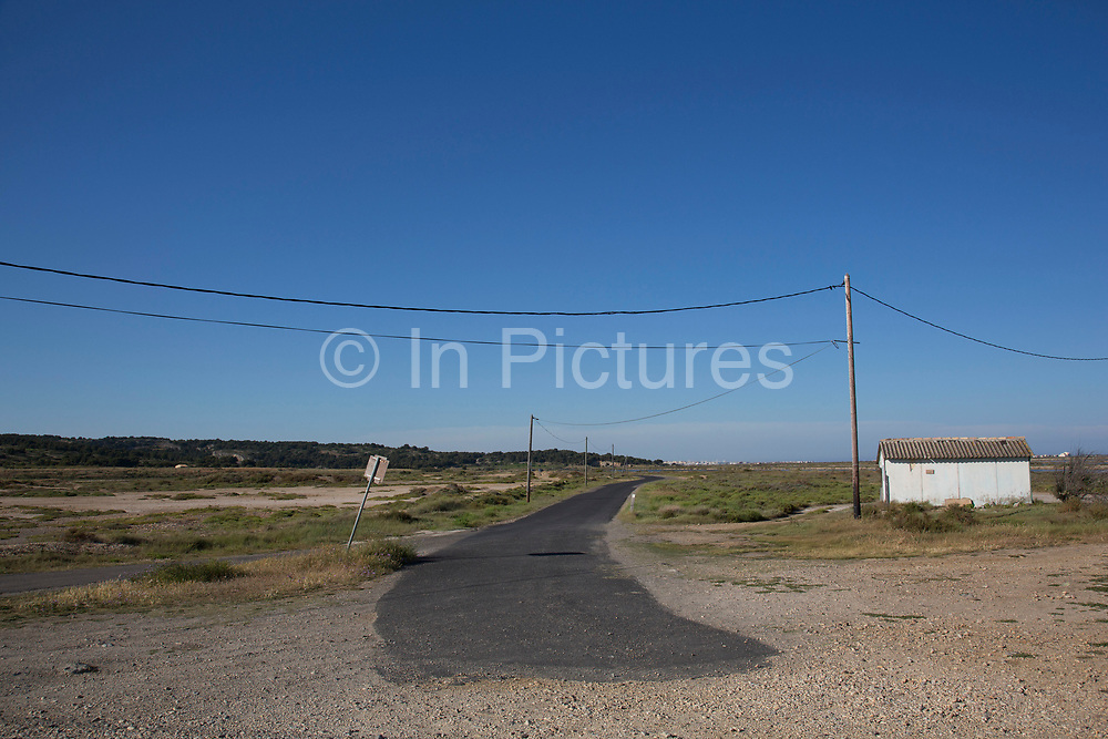 The end of a road to nowhere Gruissan, Languedoc-Roussillon, France.