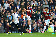 George Boyd of Burnley in action. Premier League match, Burnley v Tottenham Hotspur at Turf Moor in Burnley , Lancs on Saturday 1st April 2017.<br /> pic by Chris Stading, Andrew Orchard sports photography.