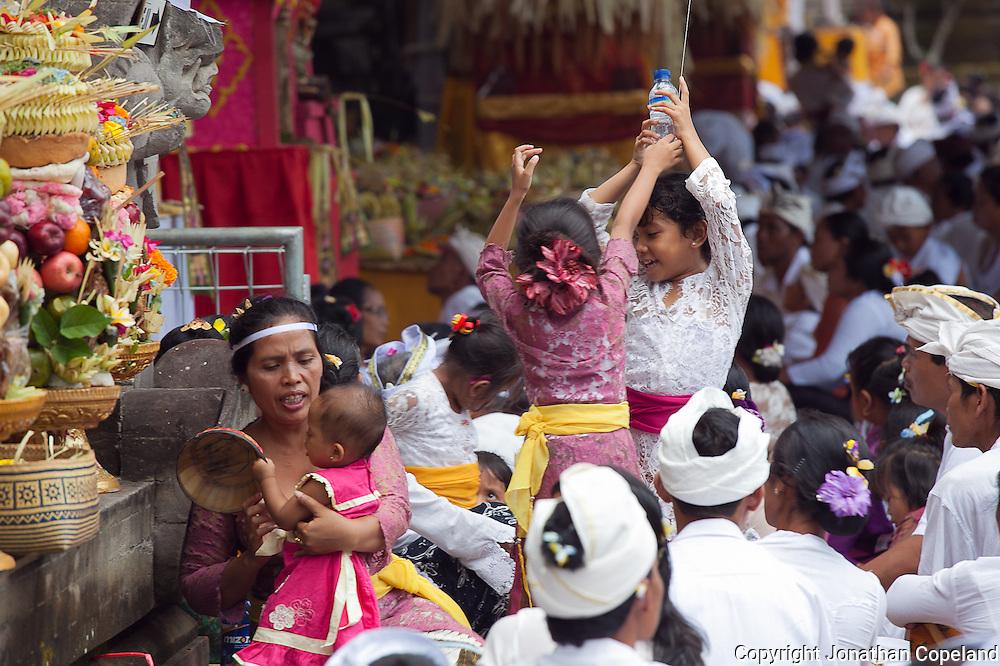 Temple Ceremony, Bedulu, Bali, Indonesia