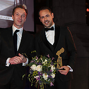 NLD/Amsterdam/20150119 - De Marie Claire Prix de la Mode awards, Wim Pijbes en Massimiliano Giornetti for Salvatore Ferragamo wint de Best Fashion House' award