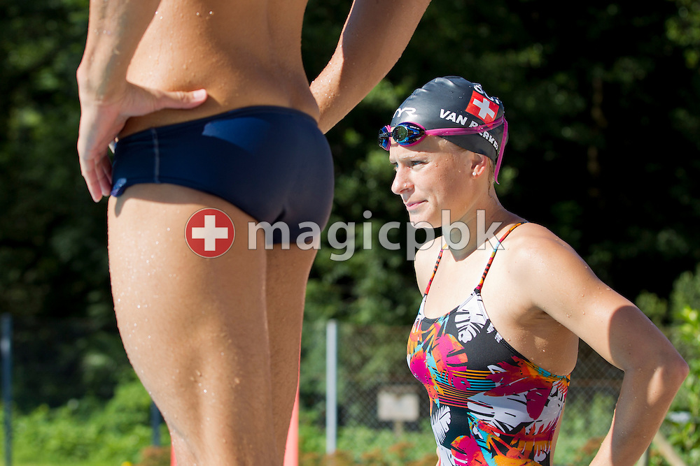 Swimmer Martina VAN BERKEL of Switzerland is pictured during a training session at the 50m outdoor training pool at the Centro sportivo nazionale della gioventu in Tenero, Switzerland, Wednesday, July 18, 2012. (Photo by Patrick B. Kraemer / MAGICPBK)