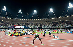 © Licensed to London News Pictures. 26/07/2013. London, United Kingdom. Usain Bolt wins the 100m at the IAAF Diamond League Sainsbury's Anniversary Games 2013. Photo credit : Justin Setterfield/LNP
