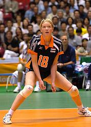 19-06-2000 JAP: OKT Volleybal 2000, Tokyo<br /> Nederland - Japan 1-3 / Ellen Koopman