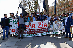 April 17, 2018 - Dhaka, Bangladesh - Hundreds of Bangladeshi people demonstrated against current Bangladesh Prime Minister on the streets of London, United Kingdom, on April 17, 2018. (Credit Image: © Dominika Zarzycka/NurPhoto via ZUMA Press)
