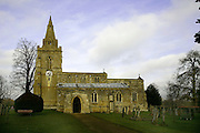 The churcg in Weekley Village, Northamptonshire