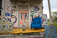 Part of the Heidelberg Project, a folk art instaltion taking up over two city blocks in Detroit started by artist Tyree Guyton.