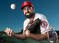 Pitcher Matt Shoemaker poses during the Angels' Photo Day at Spring Training in Tempe, AZ on Tuesday, February 21, 2017. (Photo by Kevin Sullivan, Orange County Register/SCNG)