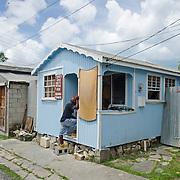 Repair shop on St Johns, Antigua.